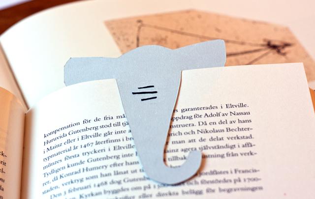 elefant bokmärke