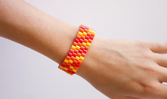 orange-parlarmband