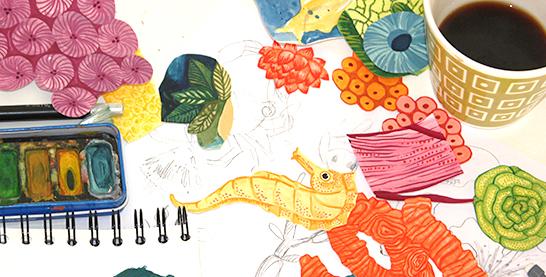 akvarell-bland-koraller